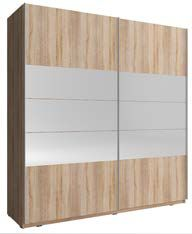 MIXA 1 200 – duża szafa przesuwna z lustrem różne kolory 4