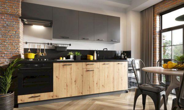 EMMY BB - meble kuchenne pod zabudowę styl industrialny 2,4m 1