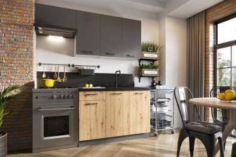 EMMY BB - meble kuchenne do małej kuchni styl industrialny 1,8m 47