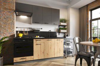 EMMY BB - meble kuchenne pod zabudowę do małej kuchni styl industrialny 1,8m 48