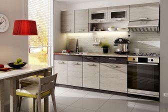 TESSA - tanie meble kuchenne z blatem w stylu nowoczesnym 2,4m 96
