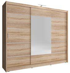 WIX 250 ALU– duża szafa przesuwna z lustrem KOLOR BIAŁY/SONOMA/GRAFIT 3