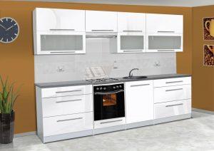 Meble kuchenne ALICJA połysk - różne kolory 2,8m lub na wymiar 4