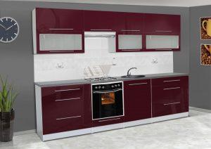 Meble kuchenne ALICJA połysk - różne kolory 2,8m lub na wymiar 3