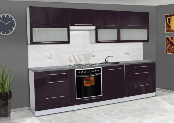 Meble kuchenne ALICJA połysk - różne kolory 2,8m lub na wymiar 1