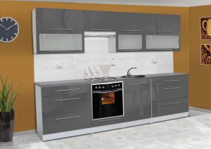 Meble kuchenne ALICJA połysk - różne kolory 2,8m lub na wymiar 9