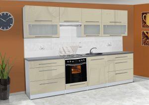 Meble kuchenne ALICJA połysk - różne kolory 2,8m lub na wymiar 7