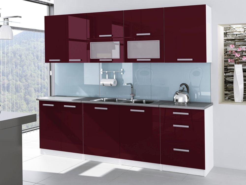 TESSA - meble kuchenne lakierowane różne kolory 2,6m lub na wymiar 2
