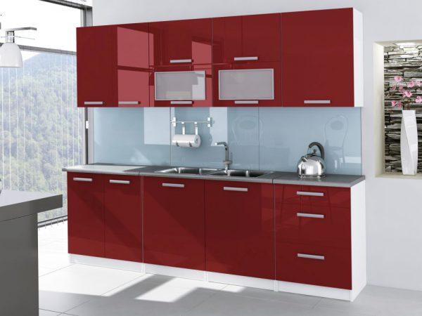 TESSA - meble kuchenne lakierowane różne kolory 2,6m lub na wymiar 1