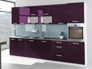 TESSA - meble kuchenne lakierowane różne kolory 3,2m lub na wymiar 4