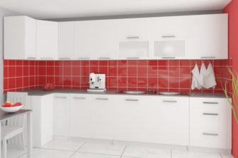 Meble kuchenne TESSA narożna połysk różne kolory 3,5m lub na wymiar 7
