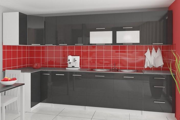 TESSA - meble kuchenne narożne połysk różne kolory 3,5m lub na wymiar 2