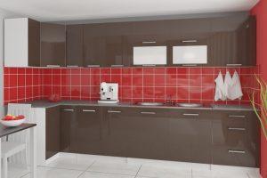 TESSA - meble kuchenne narożne połysk różne kolory 3,5m lub na wymiar 5