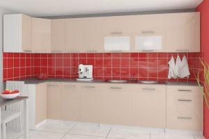 TESSA - meble kuchenne narożne połysk różne kolory 3,5m lub na wymiar 4