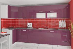 TESSA - meble kuchenne narożne połysk różne kolory 3,5m lub na wymiar 3