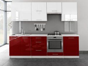 TINA - meble kuchenne pod zabudowę różne kolory połysk 2,6m lub na wymiar 7