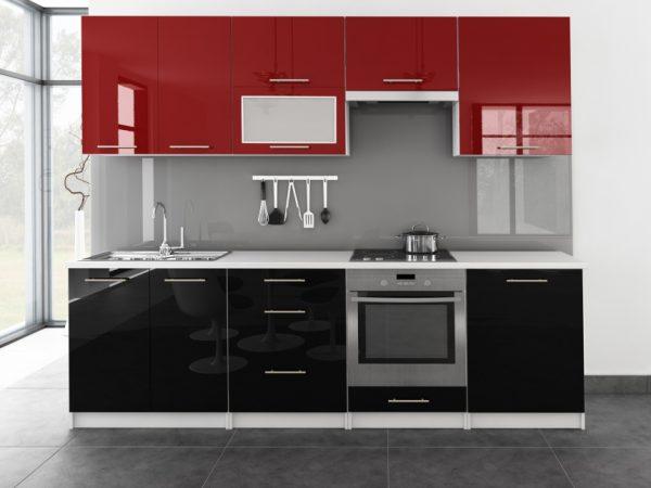 TINA - meble kuchenne pod zabudowę różne kolory połysk 2,6m lub na wymiar 1