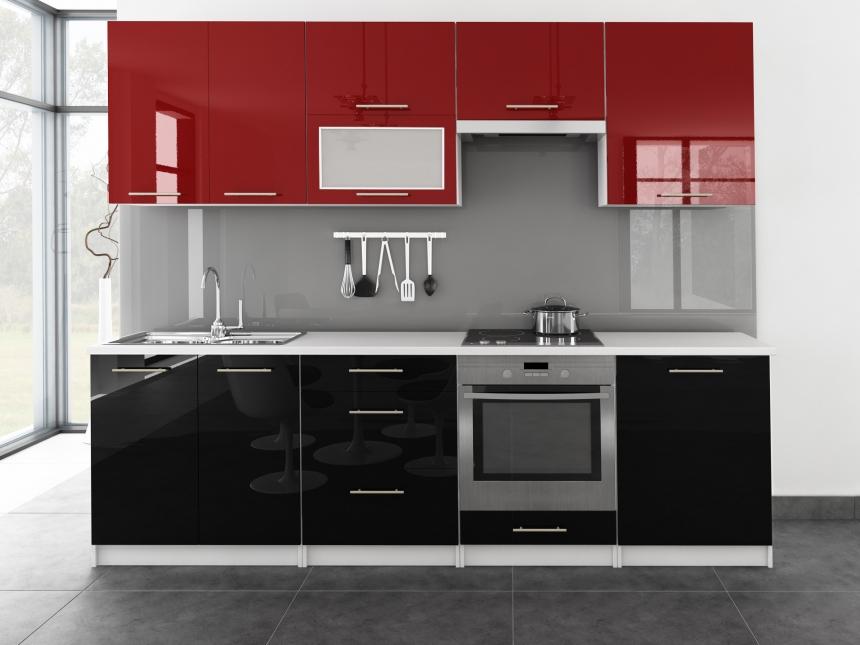 TINA - meble kuchenne pod zabudowę różne kolory połysk 2,6m lub na wymiar 2