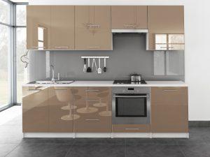 TINA - meble kuchenne pod zabudowę różne kolory połysk 2,6m lub na wymiar 4