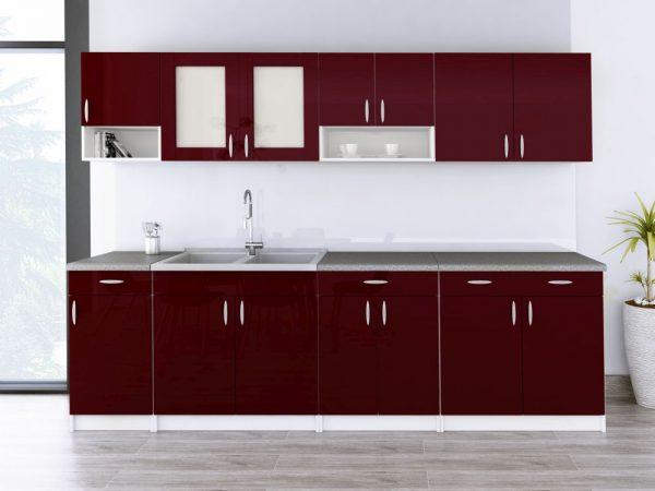 WALENCJA - meble kuchenne na wymiar różne kolory połysk 2,6m lub na wymiar 1