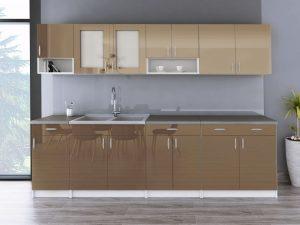 WALENCJA - meble kuchenne na wymiar różne kolory połysk 2,6m lub na wymiar 7