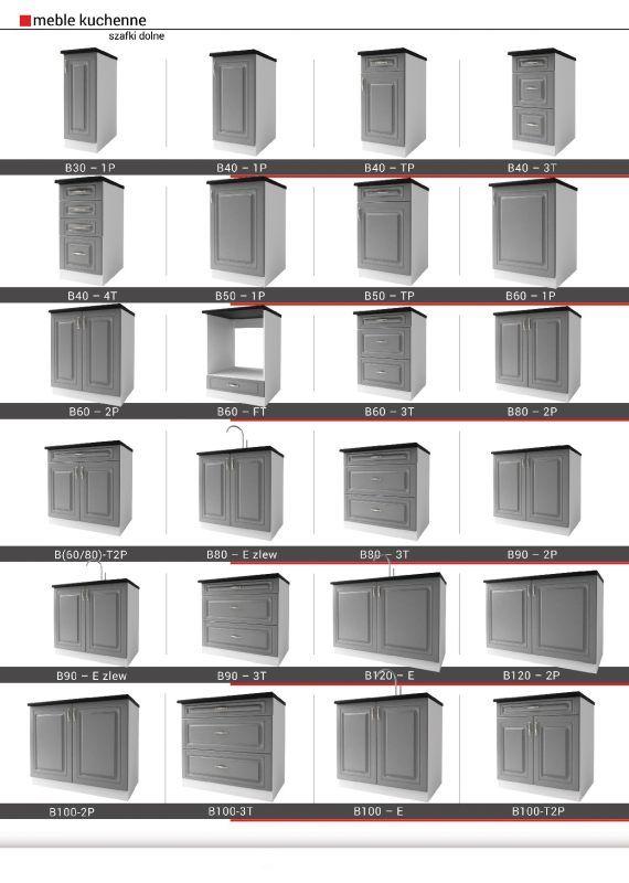 AGATHA - meble kuchenne klasyczne 2,6m lub na wymiar 10