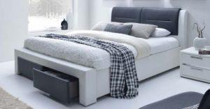 CASSANDRA S 160 - łóżko tapicerowane z szufladami 2