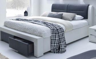 CASSANDRA S 140 - łóżko tapicerowane z szufladami 9