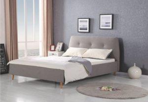 DORISS 160 - łóżko tapicerowane szare 2