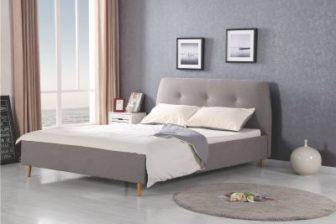 DORISS 160 - łóżko tapicerowane szare 9