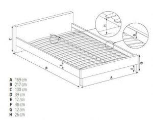 DORISS 160 - łóżko tapicerowane szare 3