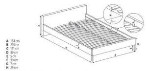EVORA 160 - łóżko tapicerowane beżowe z szufladami 2