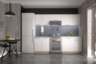 DARJA - meble kuchenne białe + sonoma 2,4m 14