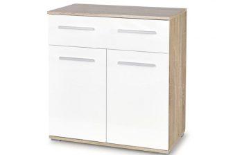 LIMA KM1 - komoda z szufladą i drziwczkami SONOMA + BIEL 3
