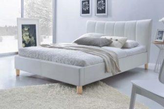 SANDY 160 - łóżko tapicerowane białe 8