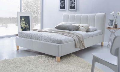 SANDY 160 - łóżko tapicerowane białe 1