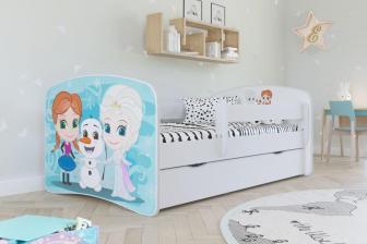 KIDS -łóżko łóżeczko z szufladą i barierką wzory 80x180 6