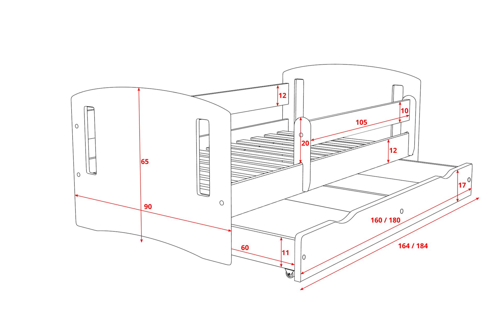 Łóżko dziecięce KINDER 2 80x180 6