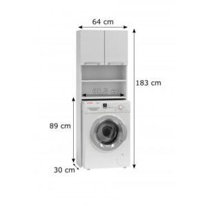 ARKA - biała szafka nad pralkę 5