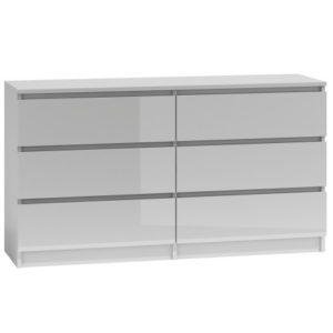 PROVENCE 6P-140 - komoda z szufladami biały lub czarny połysk 3