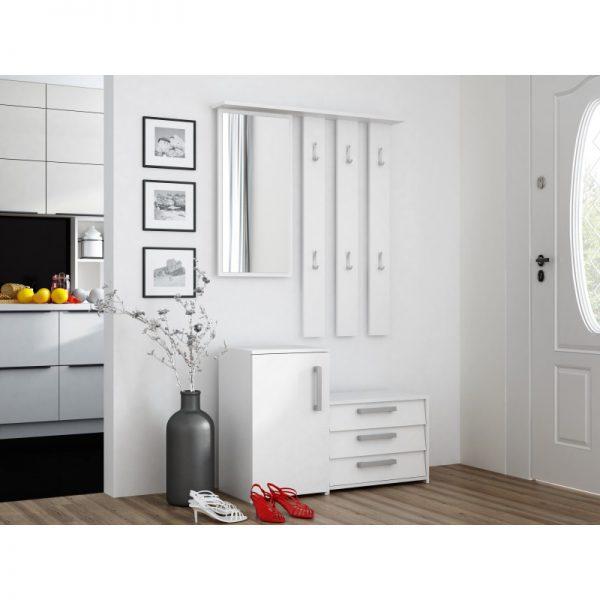 SARA - biała garderoba do przedpokoju 1