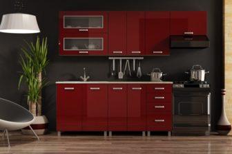 MELISSA - meble kuchenne czerwone połysk 2,4m 7