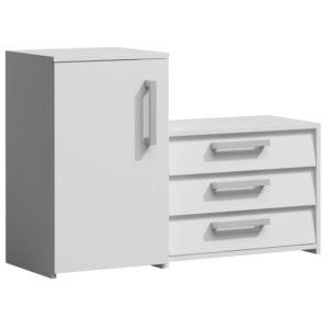 SUZI - szafka na buty z siedziskiem biała 2