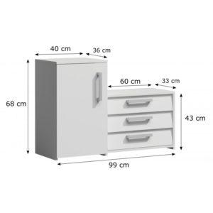 SUZI - szafka na buty z siedziskiem biała 4