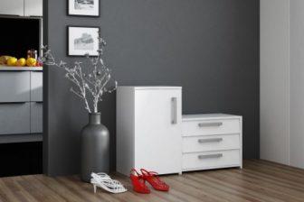SUZI - szafka na buty z siedziskiem biała 14
