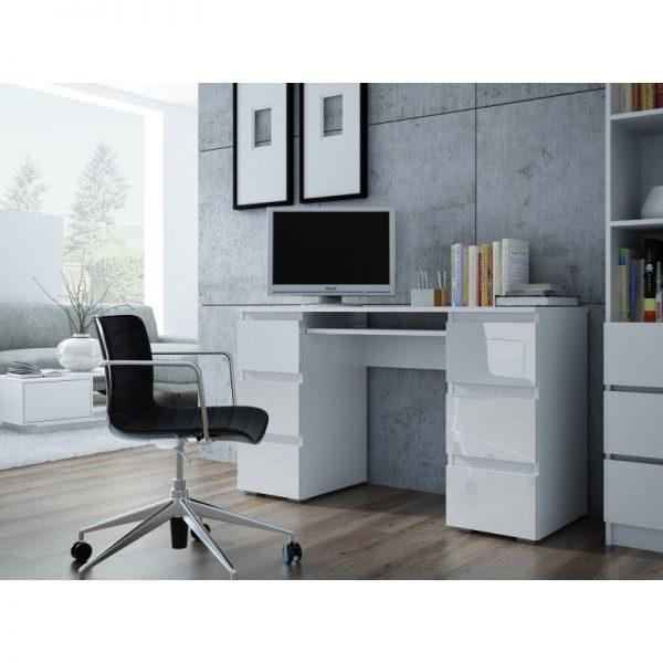 MODERN NEW - biurko białe połysk 1