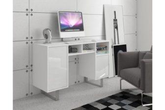 MODERN - biurko białe połysk 7
