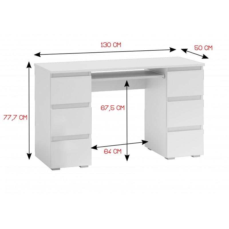MODERN NEW - biurko białe połysk 2