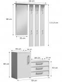 SARA - biała garderoba do przedpokoju 4