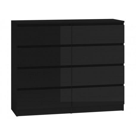 PROVENCE 8P-120 - komoda z szufladami biały lub czarny połysk 3